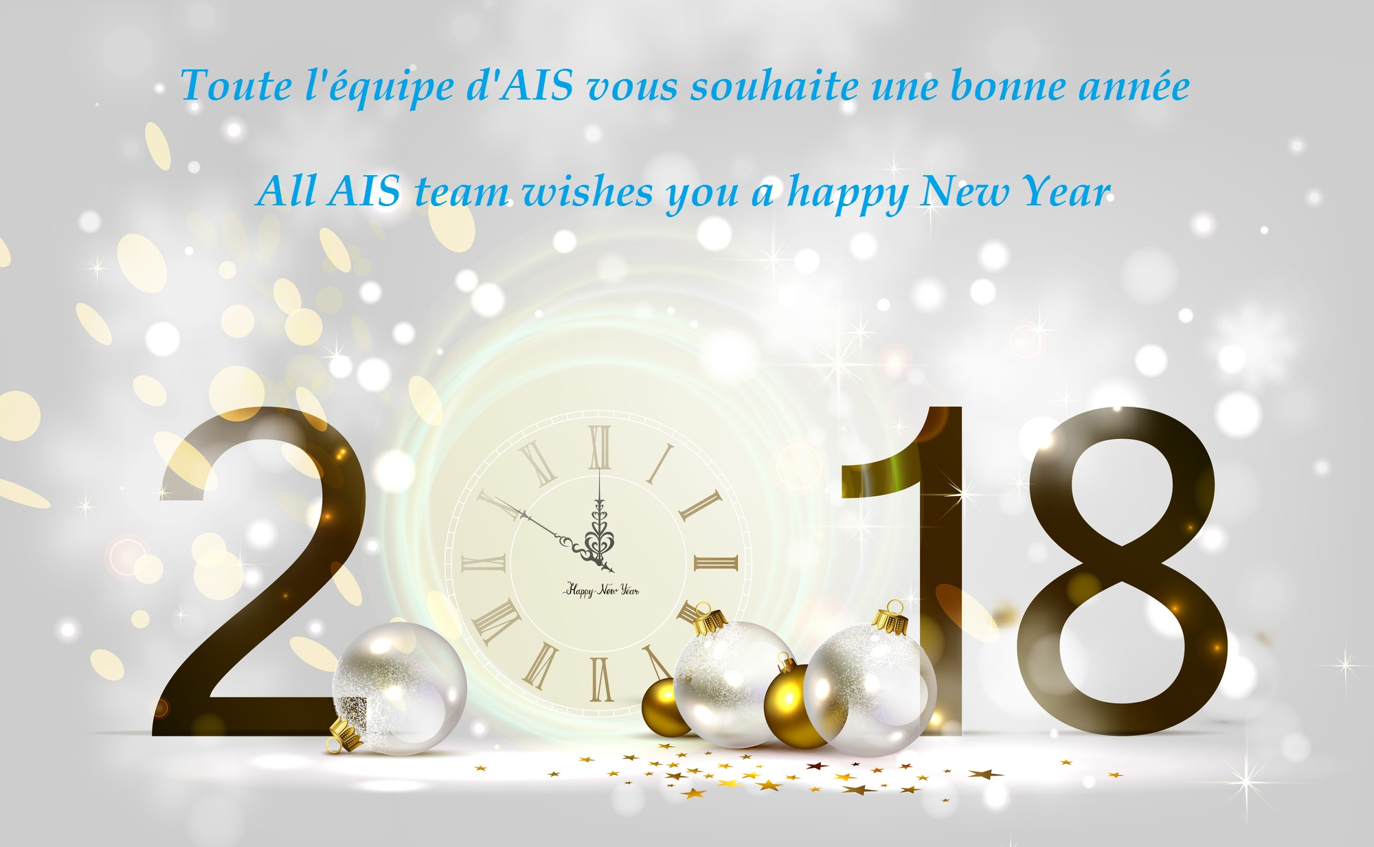 AIS wishes a happy New Year 2018 to all customers & partners